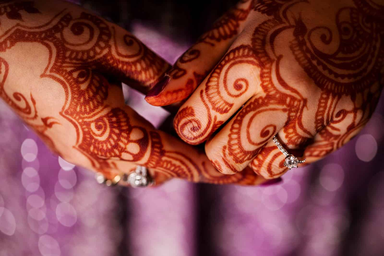 Henna Mehndi Pakistani Wedding Bride Rings