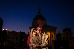 Indian wedding photographer portrait St. Louis turban hijab
