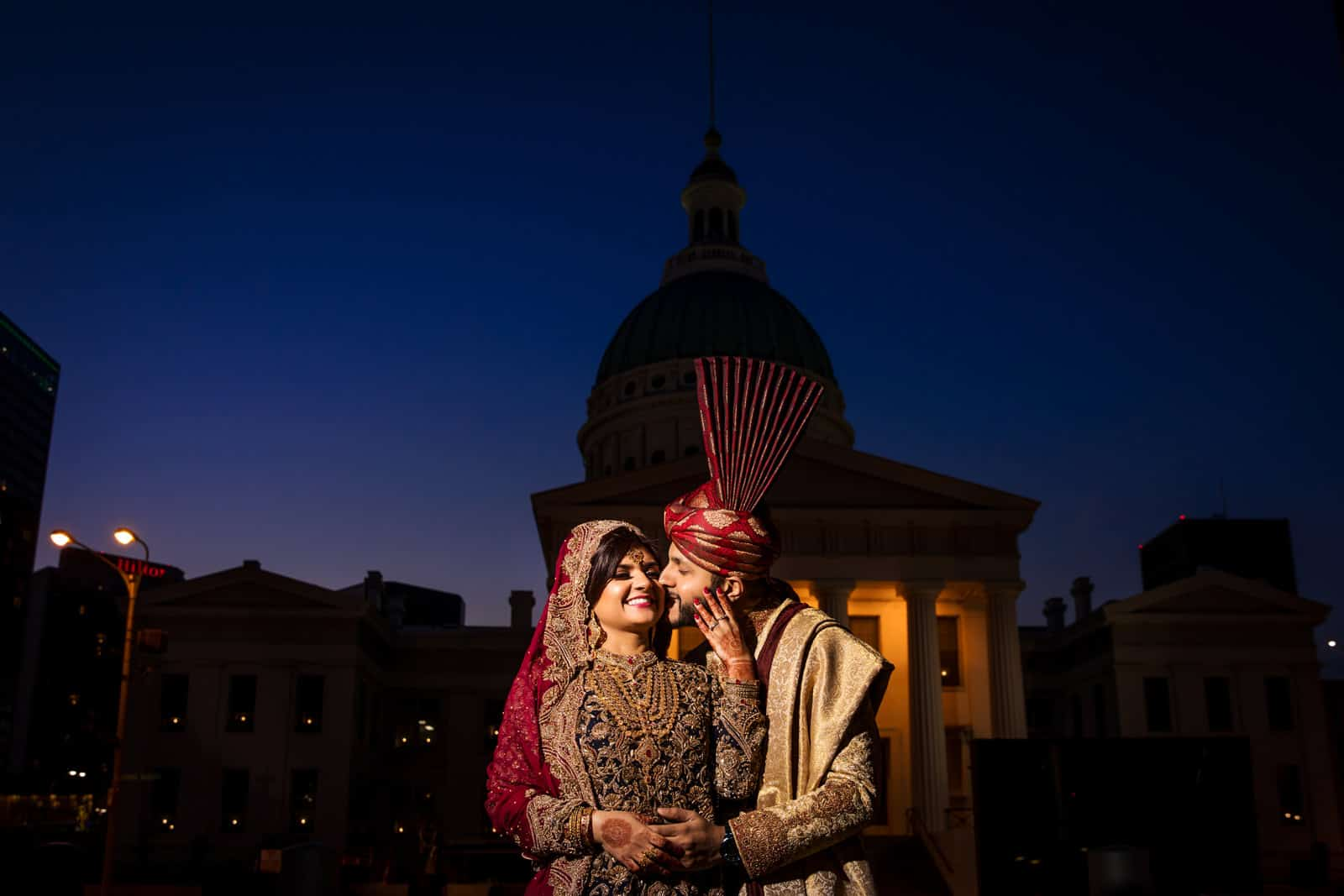 Indian wedding photographer portrait St. Louis turban hijab