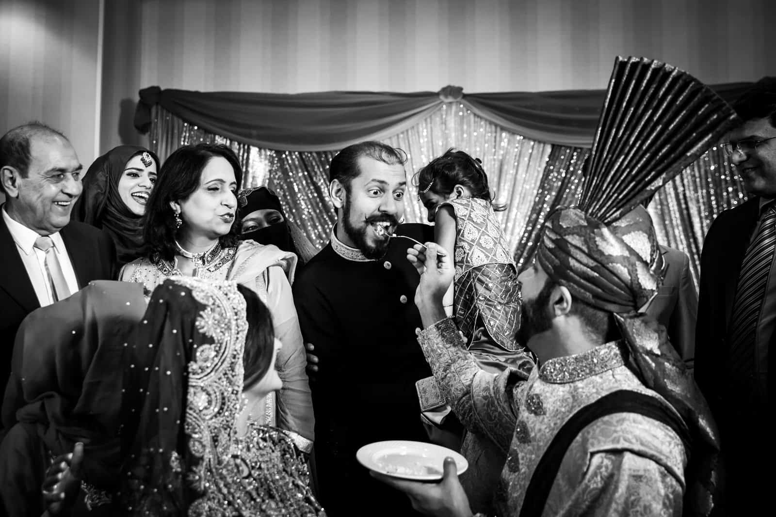 Indian Wedding Photographer St. Louis Cake Cutting